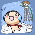 今天的天氣是下雪了(今日の天気は雪)