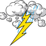 今天的天氣是雷雨。