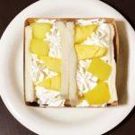 半年ぶりの「水果三明治」