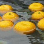 柚子湯でポカポカ